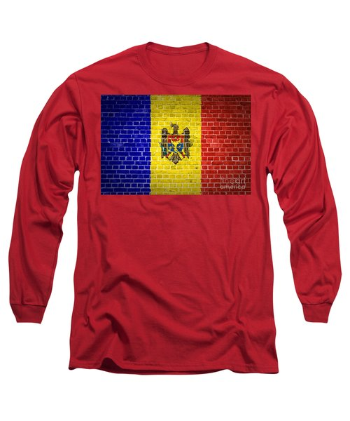 Brick Wall Moldova Long Sleeve T-Shirt by Antony McAulay