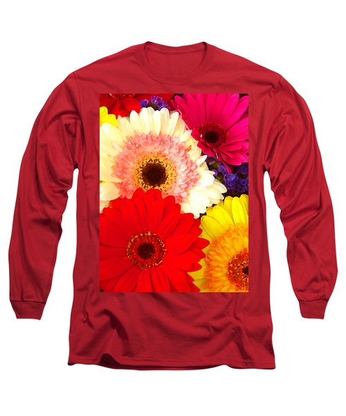 Brightly Colored Gerbers Long Sleeve T-Shirt