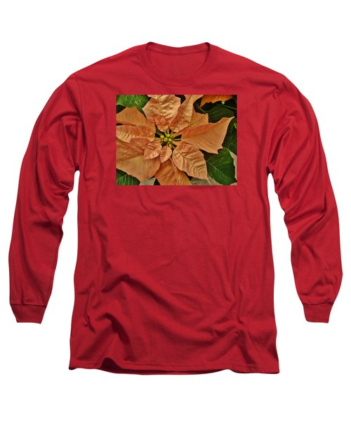 Bronze Poinsettia 3 Long Sleeve T-Shirt