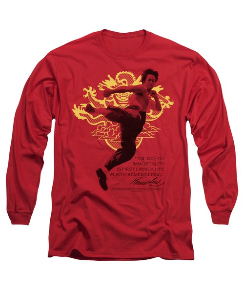 Bruce Lee - Immortal Dragon Long Sleeve T-Shirt by Brand A