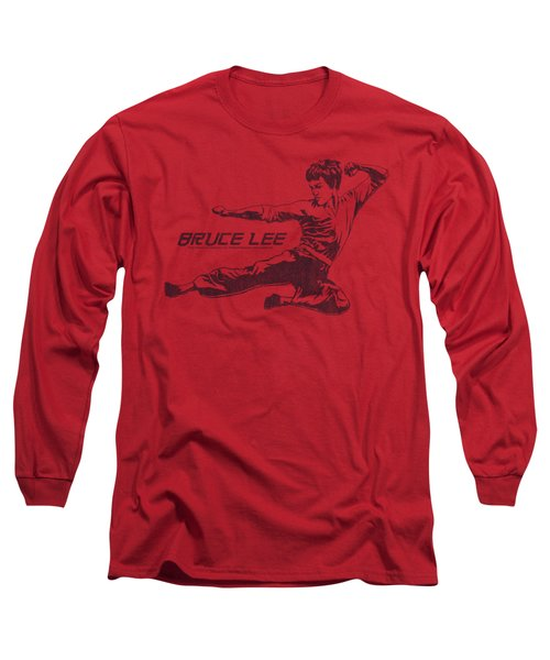 Bruce Lee - Line Kick Long Sleeve T-Shirt by Brand A