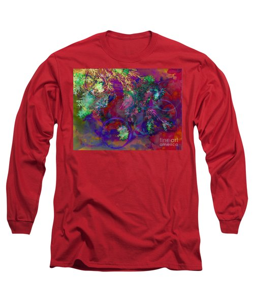 Brushing Circles  Long Sleeve T-Shirt