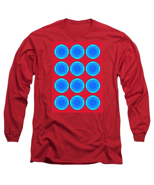 Bubbles Minty Blue Poster Long Sleeve T-Shirt