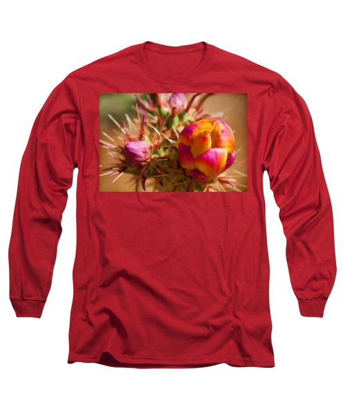Budding Cactus Long Sleeve T-Shirt by Fred Larson