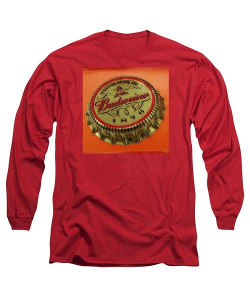 Budweiser Cap Long Sleeve T-Shirt