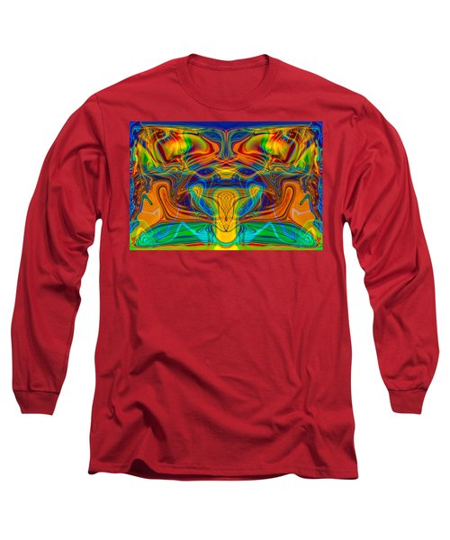 Long Sleeve T-Shirt featuring the painting Bug Eyed Monster by Omaste Witkowski
