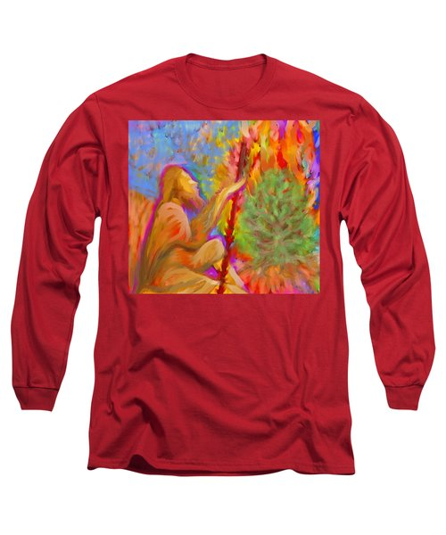 Burning Bush Of Yhwh Long Sleeve T-Shirt
