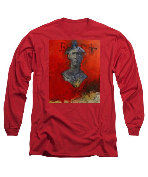 Long Sleeve T-Shirt featuring the painting Bust Ted - With Sawdust And Tinsel  by Cliff Spohn