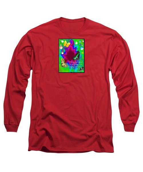 Butterfly Shows The Way Long Sleeve T-Shirt