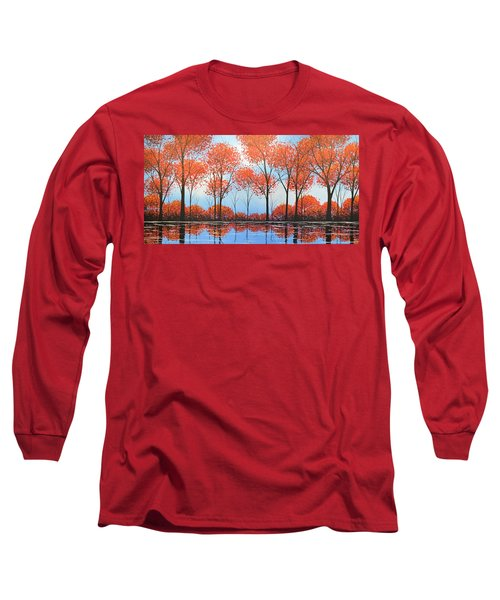 Long Sleeve T-Shirt featuring the painting By The Shore by Amy Giacomelli