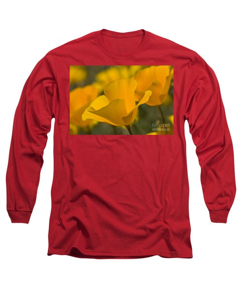 California Poppies Long Sleeve T-Shirt by Bryan Keil