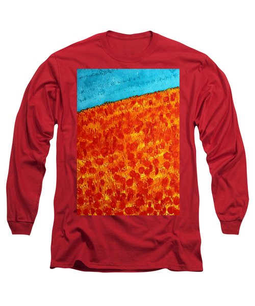 California Poppies Original Painting Long Sleeve T-Shirt