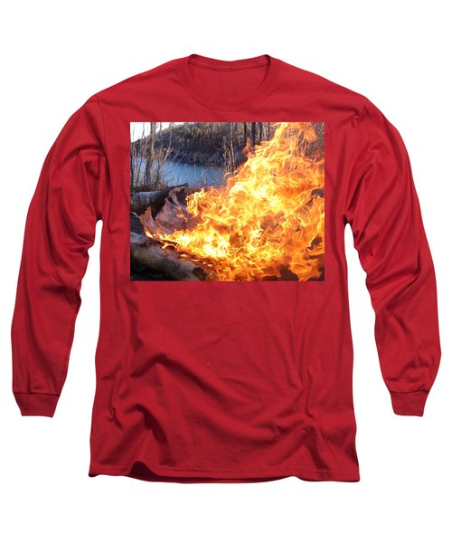 Long Sleeve T-Shirt featuring the photograph Campfire by James Peterson
