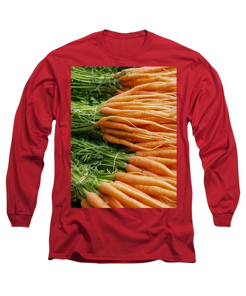Long Sleeve T-Shirt featuring the digital art Carrots by Ron Harpham
