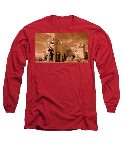 Long Sleeve T-Shirt featuring the photograph Castle By The Road by Rodney Lee Williams