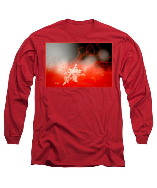 Catching A Snowflake Long Sleeve T-Shirt