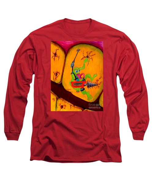 Cavity Creep Long Sleeve T-Shirt by Justin Moore
