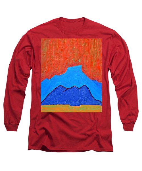 Cerro Pedernal Original Painting Sold Long Sleeve T-Shirt by Sol Luckman