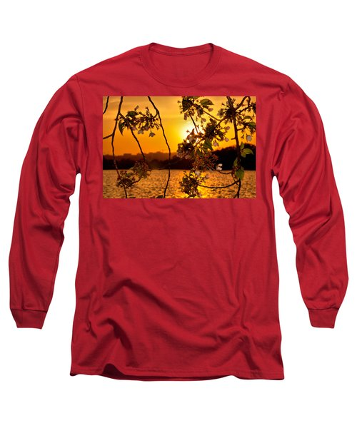 Long Sleeve T-Shirt featuring the photograph Cherry Blossom Sunset by Mitchell R Grosky