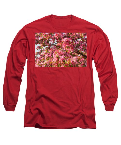Long Sleeve T-Shirt featuring the photograph Cherry Blossoms In Washington D.c. by Mitchell R Grosky