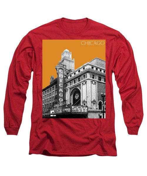 Chicago Theater - Dark Orange Long Sleeve T-Shirt