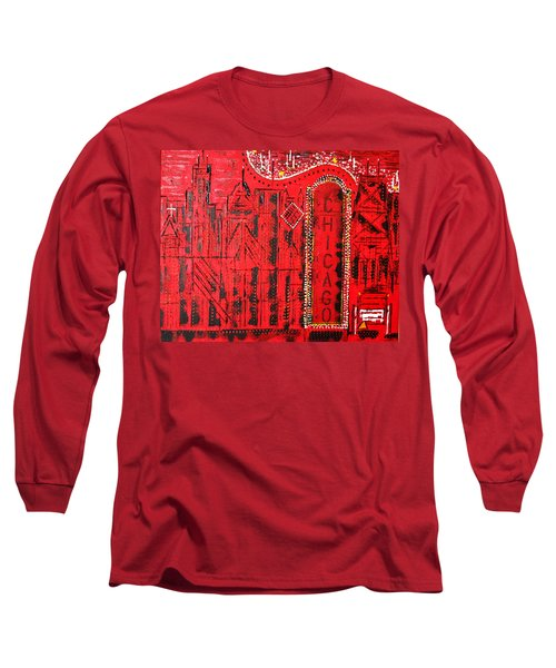 Chicago Theater Long Sleeve T-Shirt by George Riney
