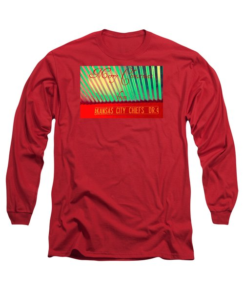 Chiefs Christmas Long Sleeve T-Shirt by Chris Berry