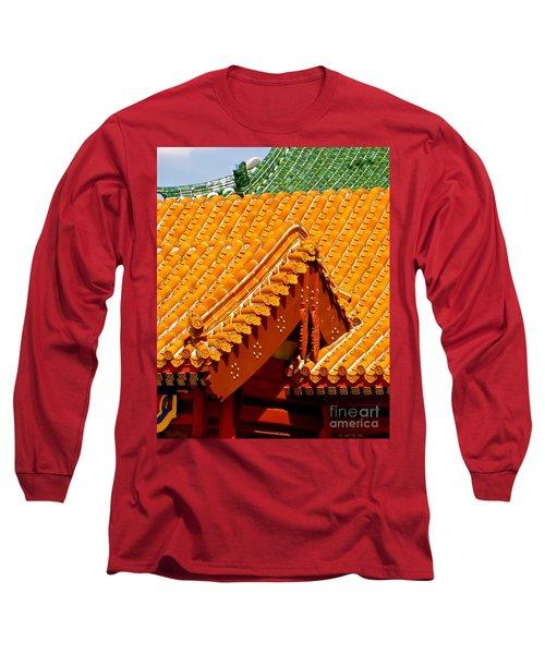 China Pavilion Long Sleeve T-Shirt by Joy Hardee
