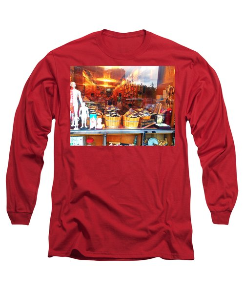 Long Sleeve T-Shirt featuring the photograph Chinatown Nyc Herb Shop by Joan Reese