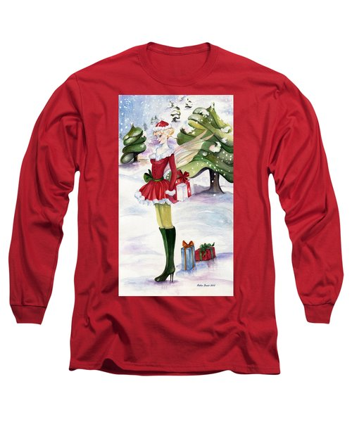 Christmas Fantasy  Long Sleeve T-Shirt by Nadine Dennis