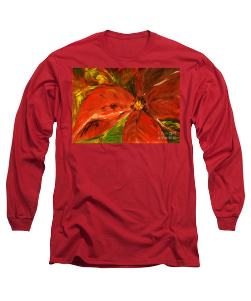 Christmas Star Long Sleeve T-Shirt by Jasna Dragun