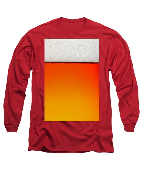 Clean Beer Background Long Sleeve T-Shirt