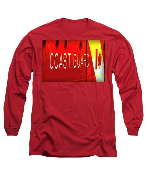 Coast Guard Du Canada Long Sleeve T-Shirt by Nadalyn Larsen