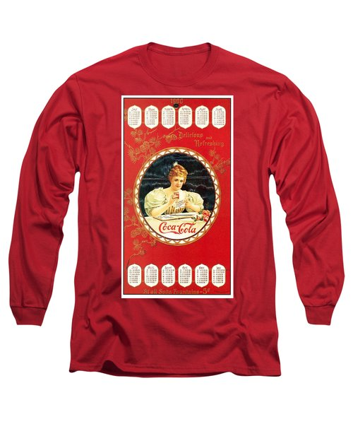 Coca - Cola Vintage Poster Calendar Long Sleeve T-Shirt