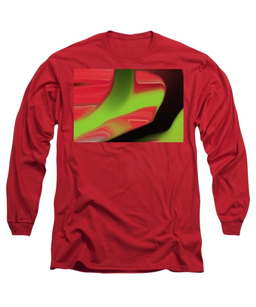 Long Sleeve T-Shirt featuring the digital art 4 Year Old Cody's New Painting by Aaron Berg