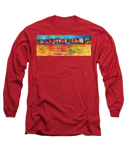 Colorful Coney Island Long Sleeve T-Shirt
