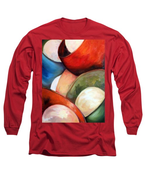 Long Sleeve T-Shirt featuring the painting Colorful Lights by Meaghan Troup