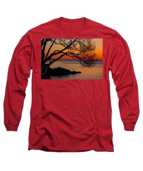 Colorful Quiet Sunrise On Lake Ontario In Toronto Long Sleeve T-Shirt