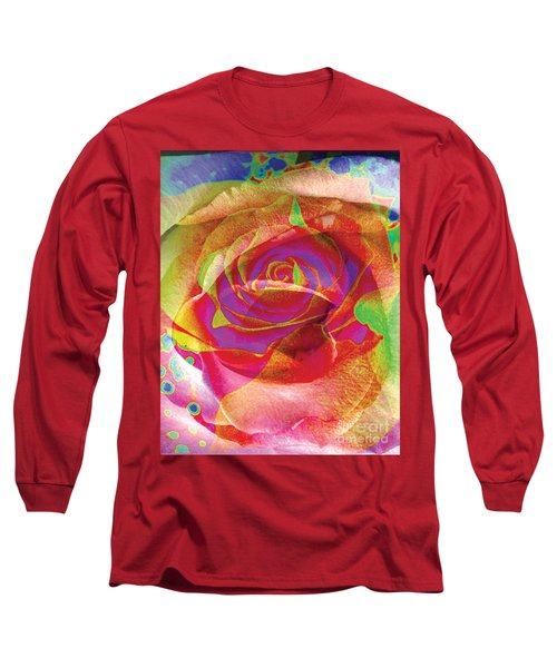 Colorfull Rose Long Sleeve T-Shirt