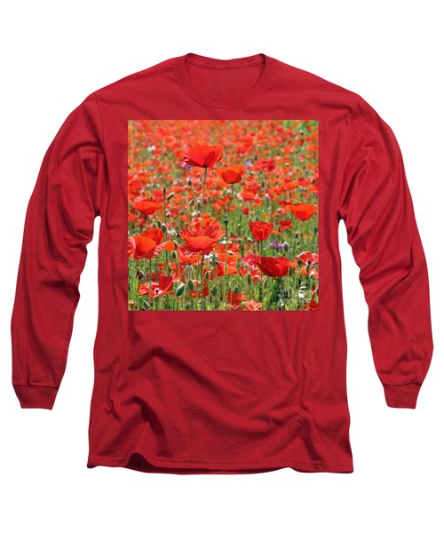 Commemorative Poppies Long Sleeve T-Shirt