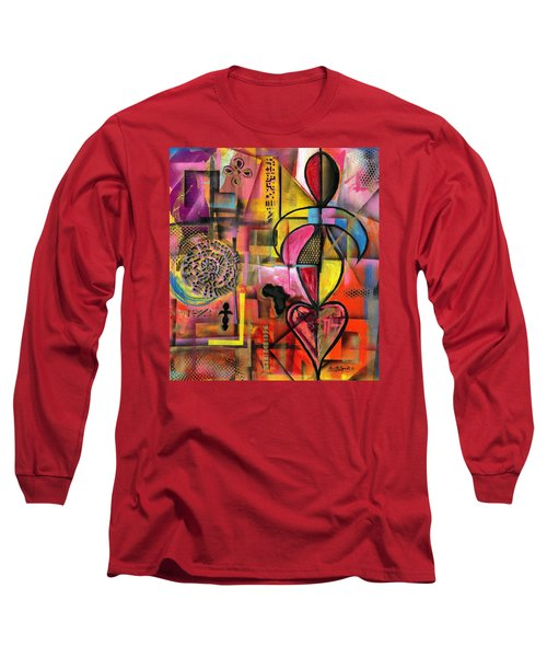 Compassionate Woman X2 Long Sleeve T-Shirt by Everett Spruill