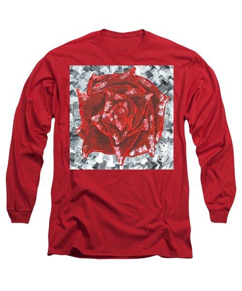 Concrete Rose  Long Sleeve T-Shirt
