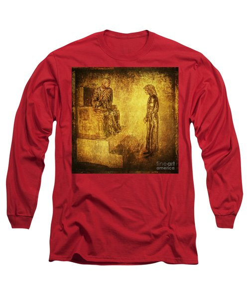 Condemned Via Dolorosa1 Long Sleeve T-Shirt by Lianne Schneider