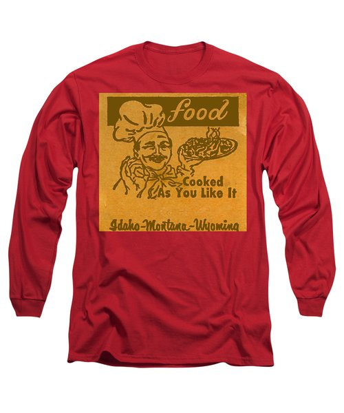 Long Sleeve T-Shirt featuring the digital art Cooked As You Like It by Cathy Anderson