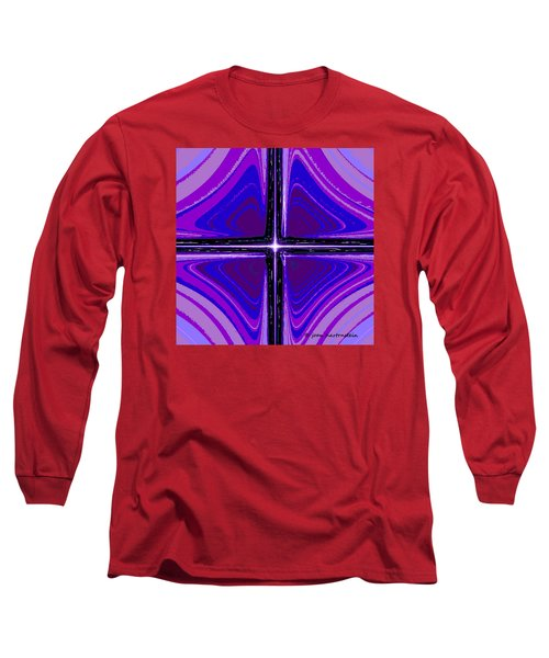 Long Sleeve T-Shirt featuring the digital art Cool Tones by Joan Hartenstein