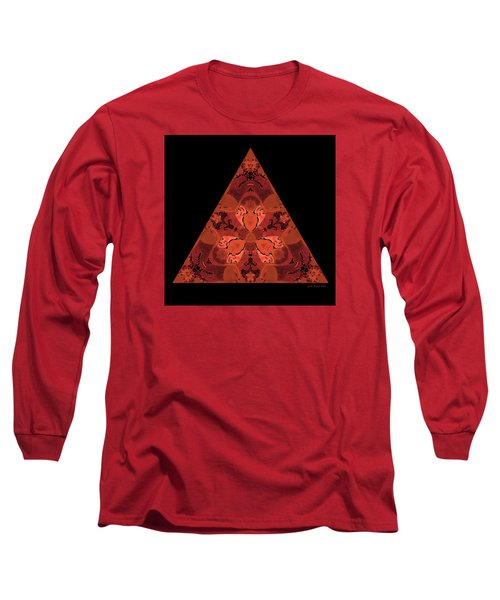 Long Sleeve T-Shirt featuring the digital art Copper Triangle Abstract by Judi Suni Hall