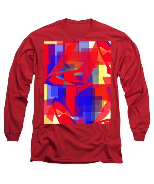 Long Sleeve T-Shirt featuring the digital art Copter Sunrise by Stephanie Grant