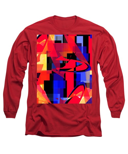 Long Sleeve T-Shirt featuring the digital art Copter Sunset by Stephanie Grant