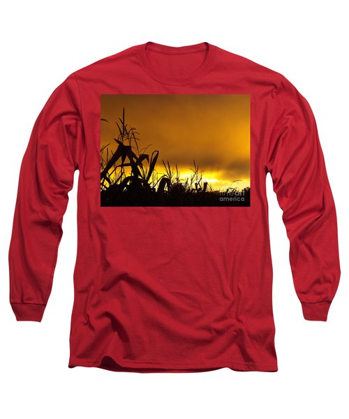 Corn At Sunset Long Sleeve T-Shirt