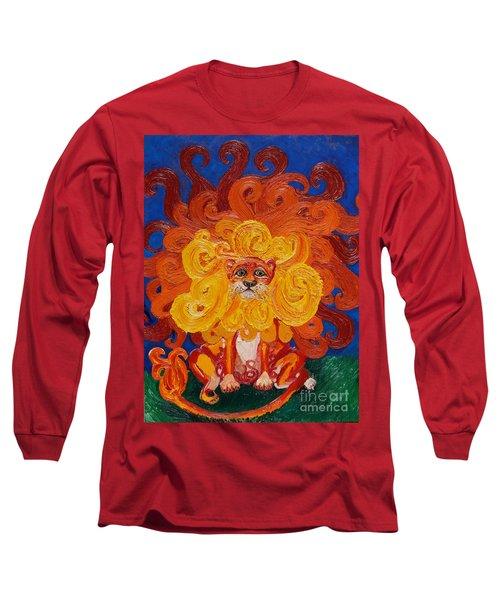 Cosmic Lion Long Sleeve T-Shirt by Cassandra Buckley